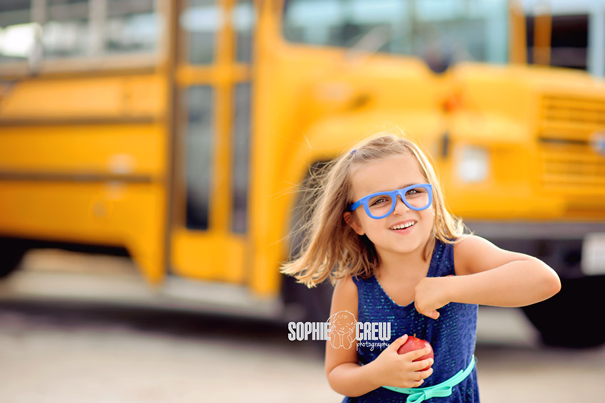 school bus back to school san diego portraits