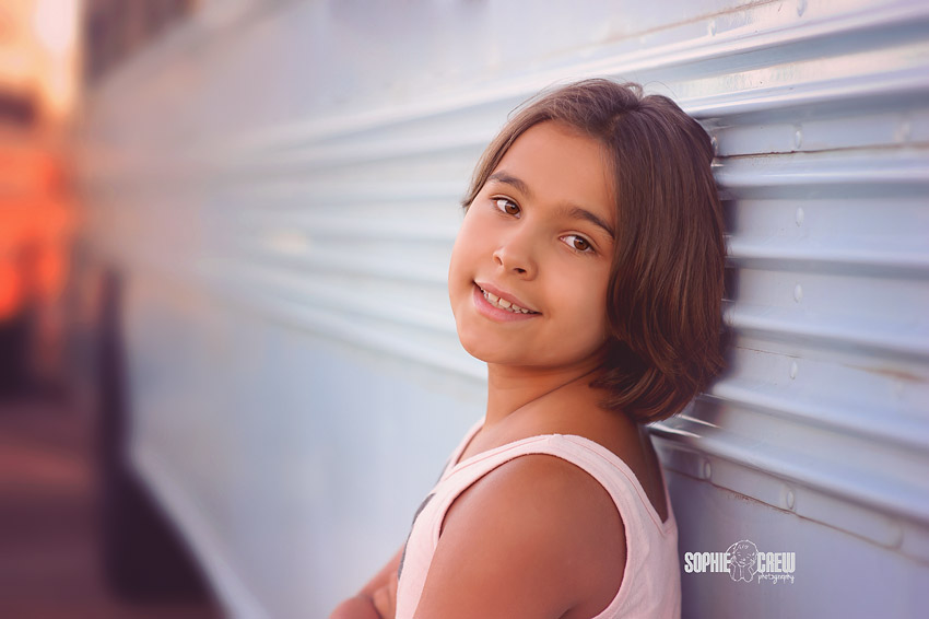 girl back to school elementary school portraits