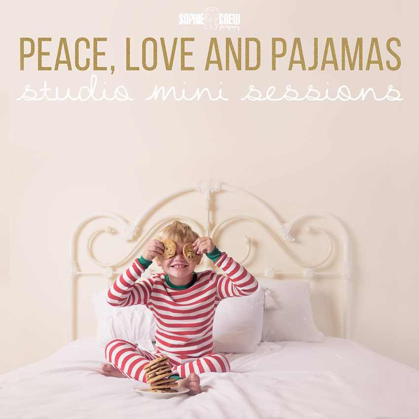 Peace Love and Pajamas Studio Mini Sessions for the holidays