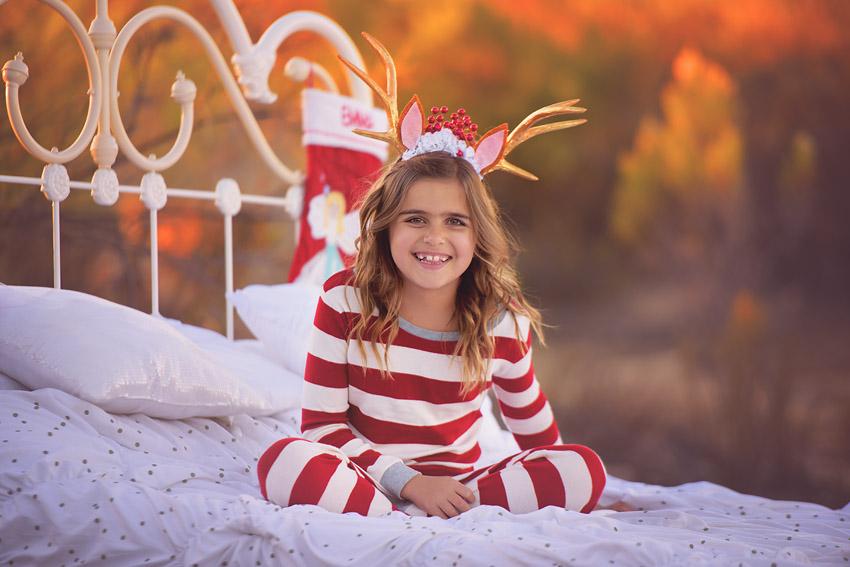 christmas pajamas bed outdoors