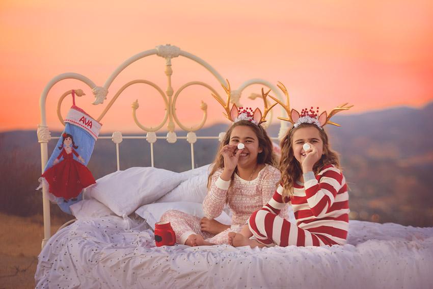 kids reindeer fun photo