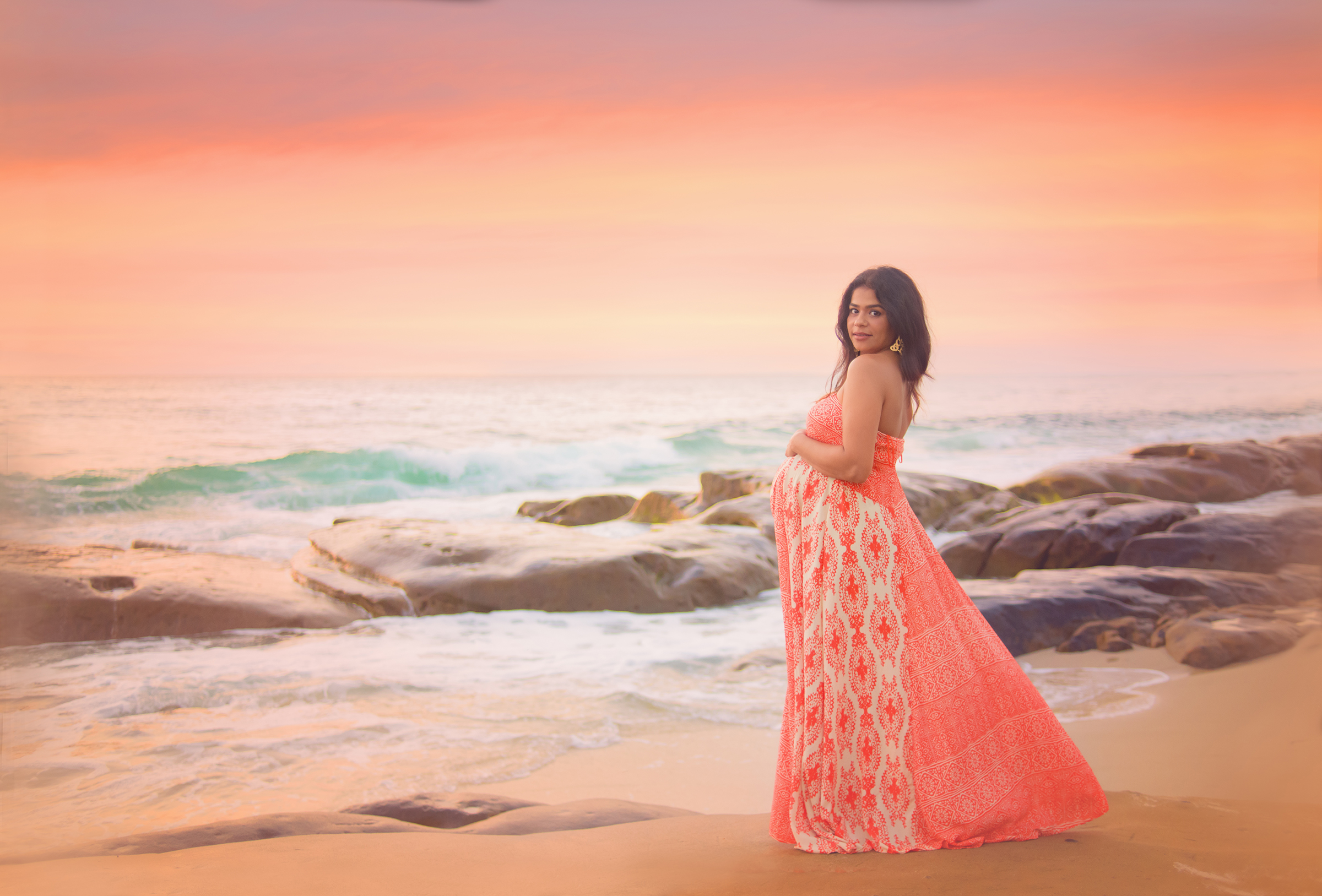 Beautiful maternity photography in La Jolla, CA
