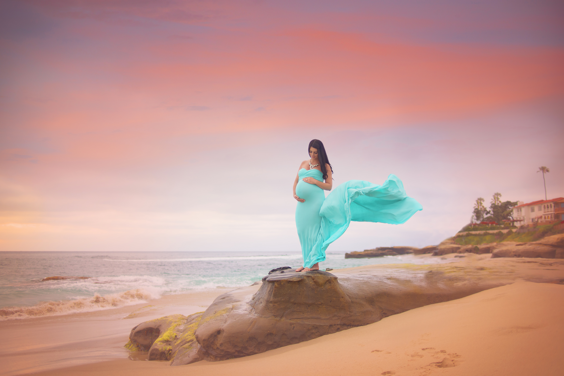 San Diego Maternity Photos at the beach in La Jolla, CA