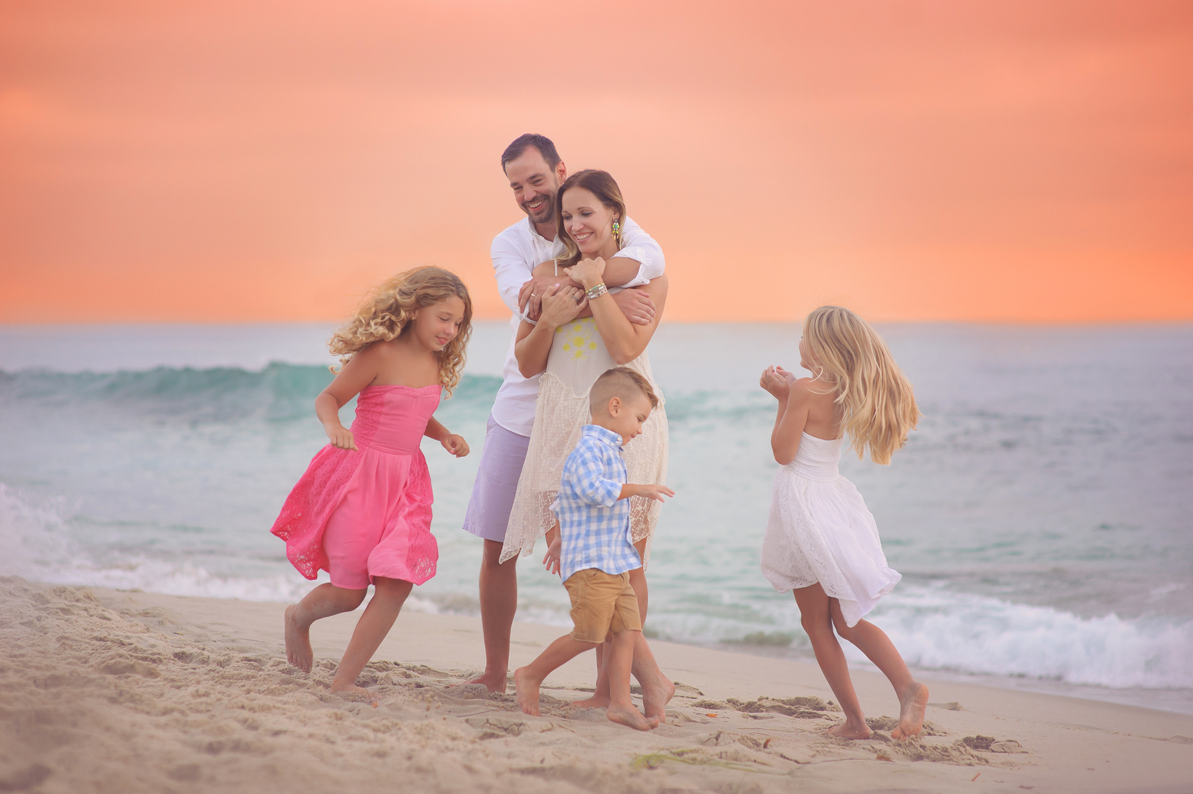 Beach family photographer La Jolla CA