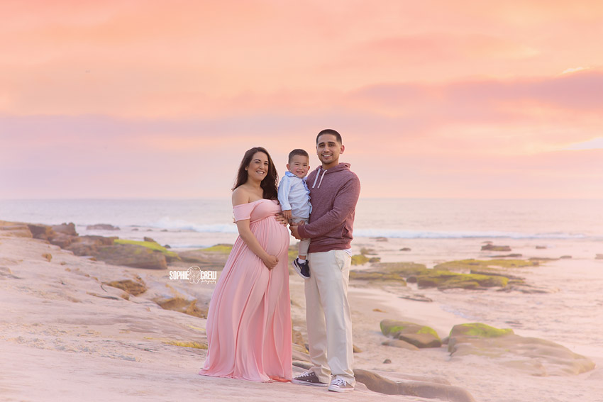 Family photography beach portraits in San Diego, CA
