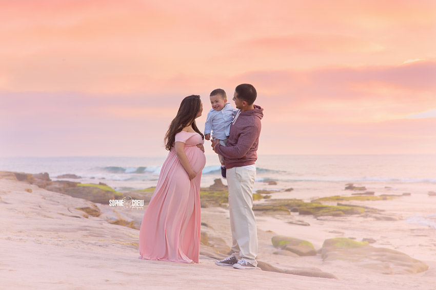 Beach family photographer in San Diego, CA