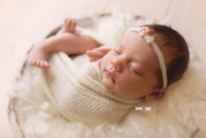 Newborn infant portrait photography
